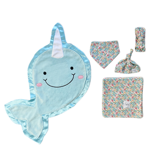 Echo Blue Bloom Swaddle Set