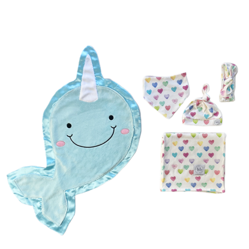 Echo Watercolor Hearts Swaddle Set