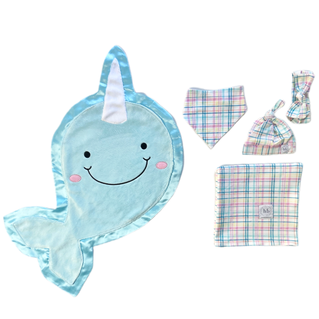 Echo Pastel Plaid Swaddle Set