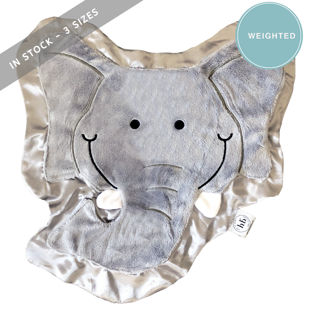 WEIGHTED Rumble the Elephant Happy Blankie