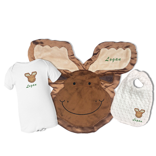 Monty the Moose Happy Baby Gift Set