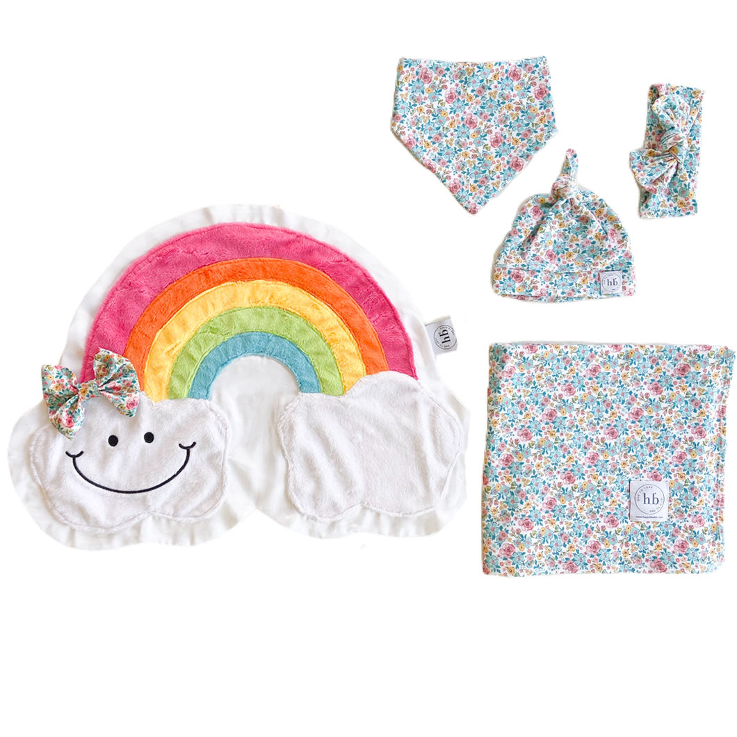 Promise Blue Bloom Swaddle Set