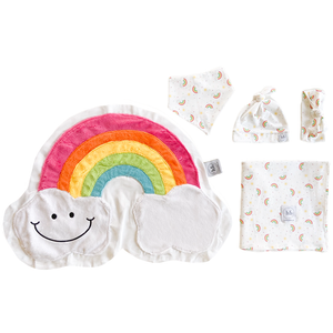 Rainbow Print Swaddle Set