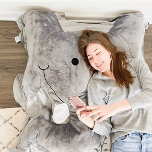 Rumble the Elephant Floor Pillow