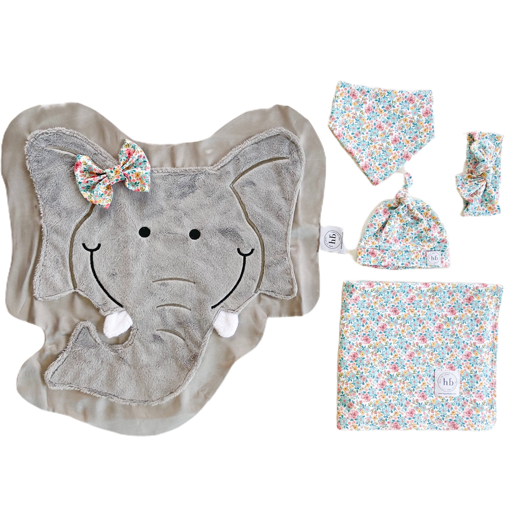 Rumble Blue Bloom Swaddle Set
