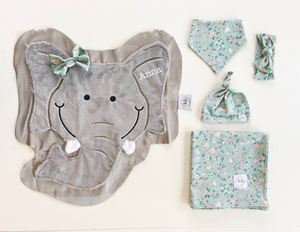 Rumble Sage Blossom Swaddle Set
