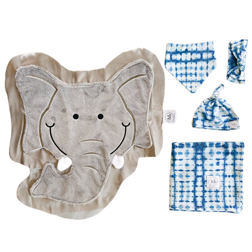 Rumble Indigo Tie-Dye Swaddle Set