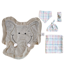 Rumble Pastel Plaid Swaddle Set