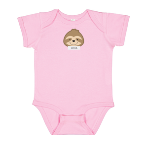 "Snooze Bubblegum Pink ""Loved"" Bodysuit"