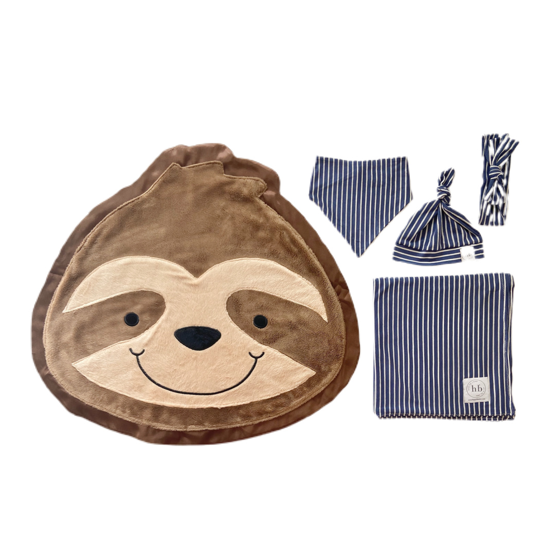 Snooze Denim Stripe Swaddle Set