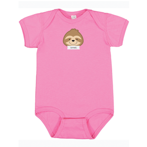 "Snooze Hot Pink ""Loved"" Bodysuit"