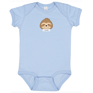 "Snooze Light Blue ""Loved"" Bodysuit"