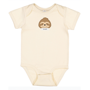 "Snooze Natural ""Loved"" Bodysuit"