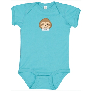 "Snooze Teal ""Loved"" Bodysuit"