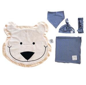Blizzard Denim Stripe Swaddle Set