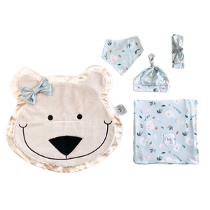 Blizzard Ice Blue Bloom Swaddle Set
