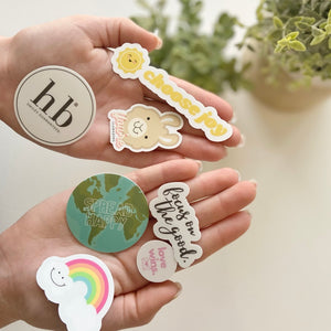 Stay Positive Sticker Set