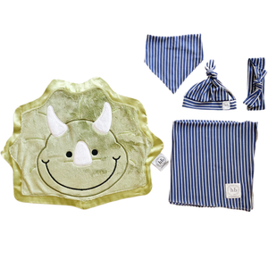 Chomp Denim Stripe Swaddle Set