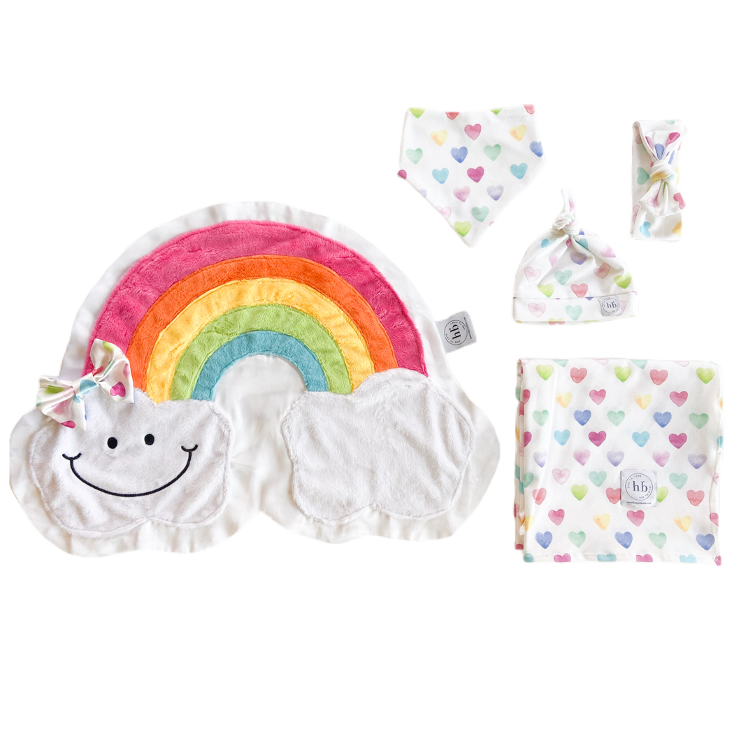 Promise Watercolor Hearts Swaddle Set
