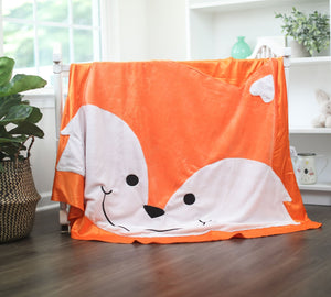 Large Felix the Fox Happy Blankie