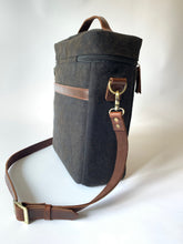 3 bottle wine tote: Canvas