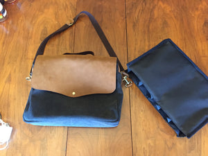 Leather laptop / wine sales bag