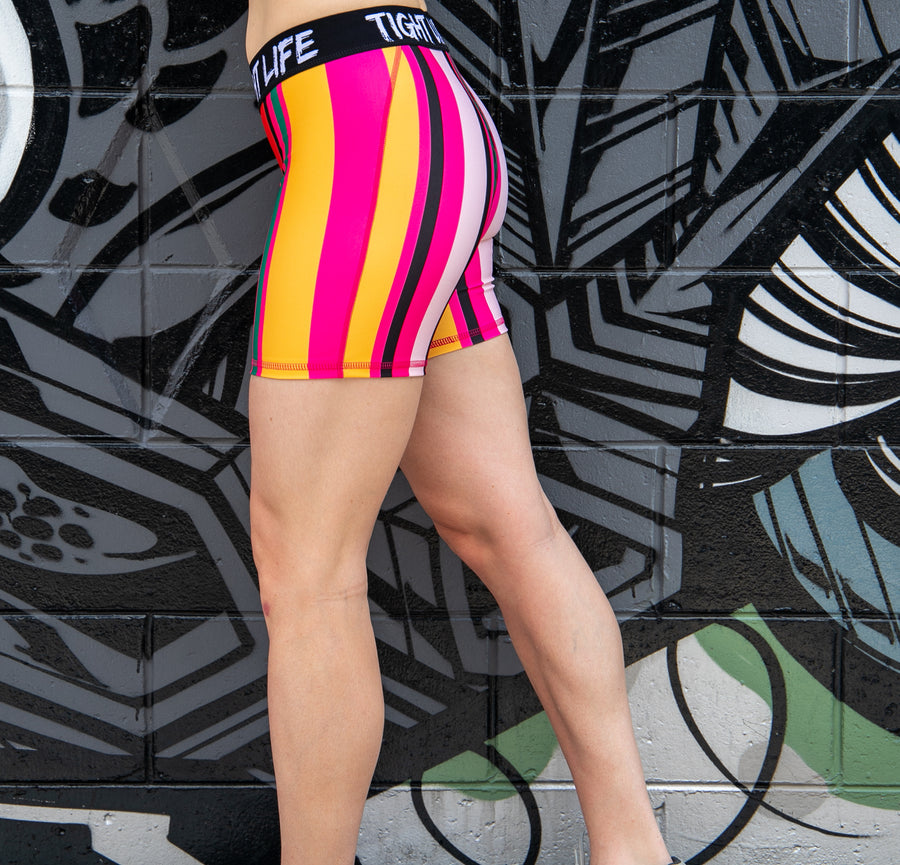 Tiger Queen Mid Length Shorts
