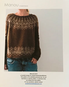 Manou Sweater Kits (Isabell Kraemer and Retrosaria Brusca)  BACK IN STOCK