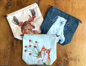 The Blue Rabbit House - Project Bags - Farm to Cable Yarns