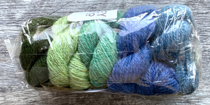 The Little Grey Sheep Hampshire 4 ply - Mini Skein sets