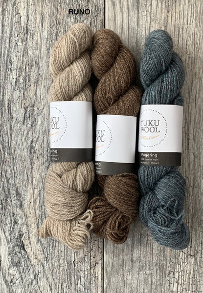 Marit Sweater Kits - Tukuwool Fingering and Laine Issue 7 - Farm to Cable Yarns