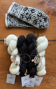 Selbu Mitten Kits (Ram Jam) - Farm to Cable Yarns