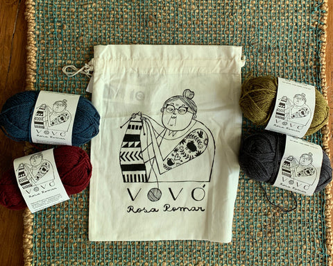 Vovó Project Bags - Farm to Cable Yarns