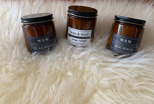 Wax & Wool - Hand Poured Soy Candles - Farm to Cable Yarns