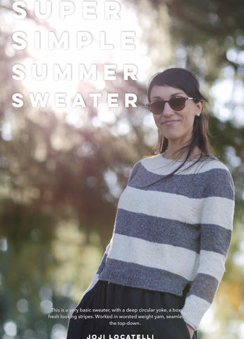 Super Simple Summer Sweater - Kits - Farm to Cable Yarns