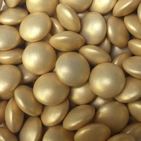 Gold Glimmer Chocolate Beans