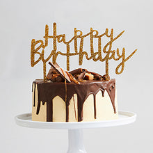 Happy Birthday Topper (Gold, Silver or Rose Gold)