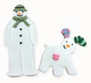 Snowman & Snowdog Cookie Cutters