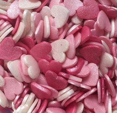 Candy Floss Glimmer Hearts