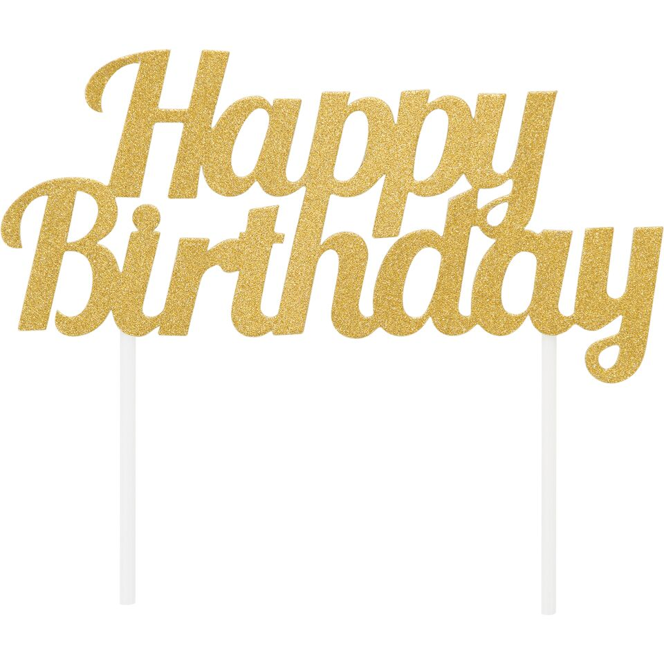 Copy of Happy Birthday Topper - Gold