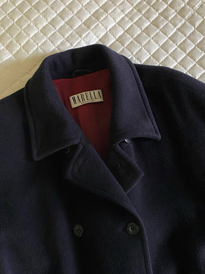 Vintage iconic Marella pure wool double breast blue coat