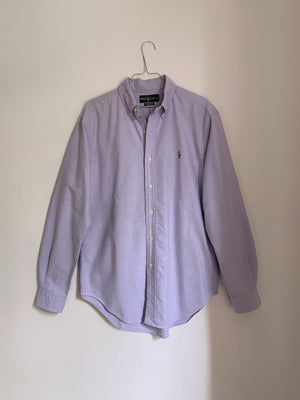 Vintage Ralph Lauren pure cotton blue man shirt