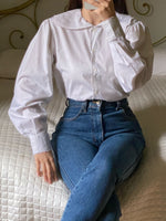 Vintage IBlues pure cotton puff sleeve collar shirt