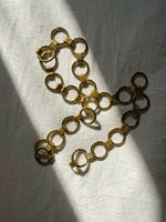 Vintage hoop golden chain belt