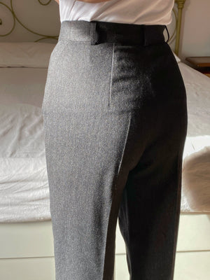 Vintage Marella pure new wool high waist classic grey pants