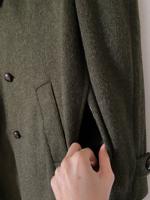 Vintage Italian made in Tirol wool blend green loden coat