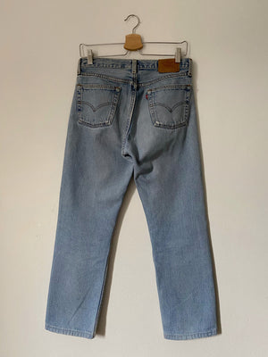 Levi's 501 STUDENT light blue jeans W30 L30 cropped