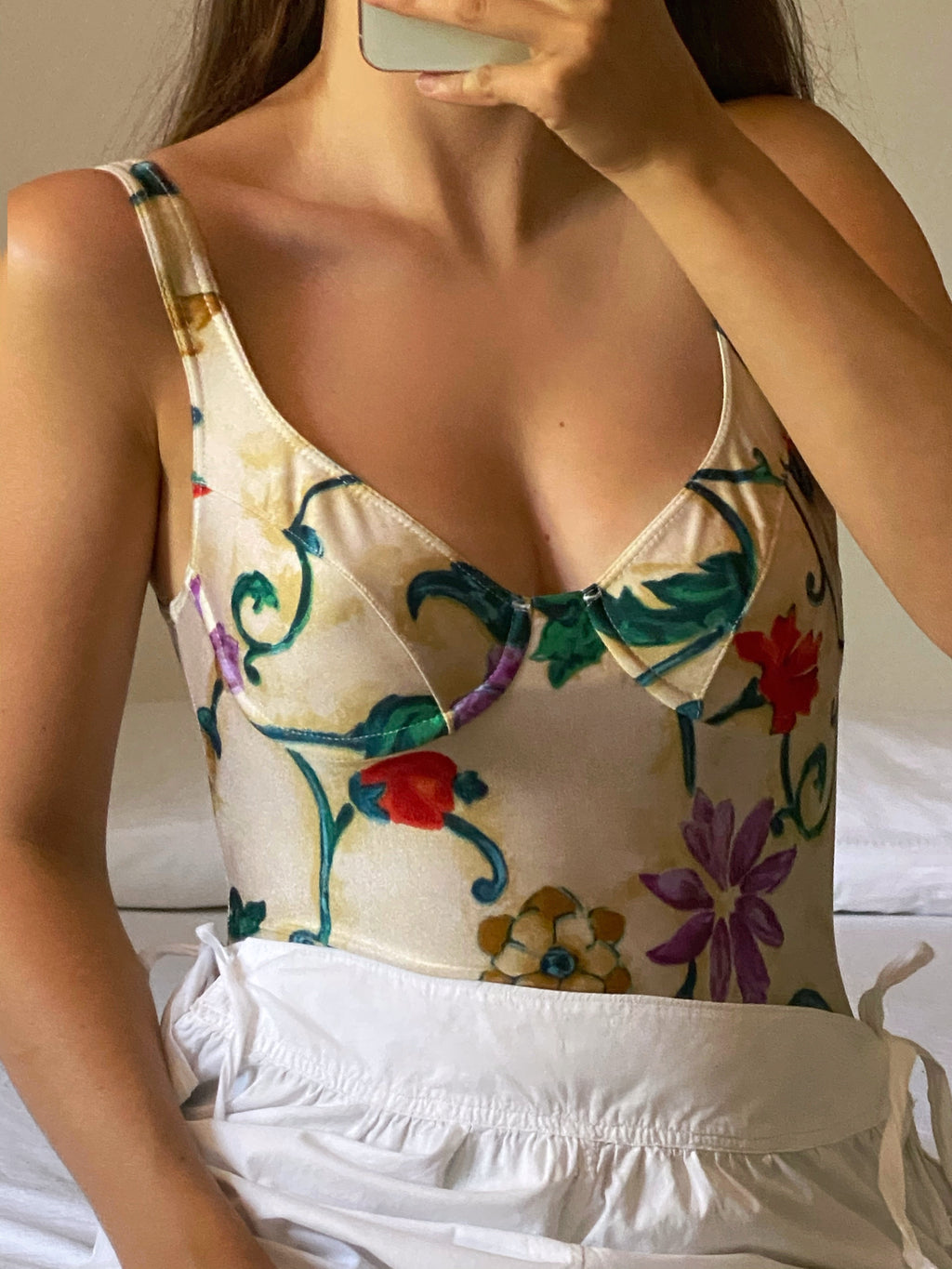 Vintage flowers swimsuit