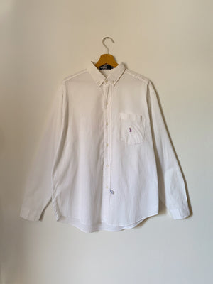 Vintage Ralph Lauren pure cotton white man shirt