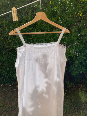 Vintage antique chiacchierino lace details slip dress